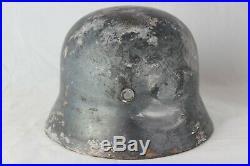 Original World War 2 German Helmet Shell with Rivets and Liner