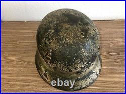 Original Ww2 German Camo Helmet