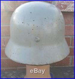 Original Ww2 German Helmet Winter Paint With Original Liner