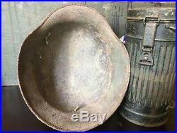 Original Ww2 German Relic XX Elite Troops DD M35 Helmet! Rare