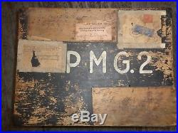 Original Ww2 German War Souvenirs In The Original Send Home Box Ger. Helmet &