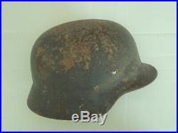 Original Ww2 M35 German Helmet Wwii M1935 Et66