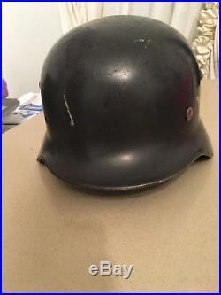 Original Wwii German Luftwaffe Combat Helmet, Vet Bring Back, Museum Quality