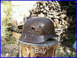 Original helmet M35 ww2 German battle demage from Stalingrad WH
