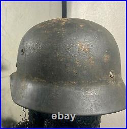 Original ww2 German helmet Q64 Quist size 64 with partial liner