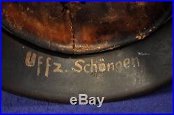Outstanding! Wwii German M42 Normandy Pattern Camouflage Helmet100% Genuine