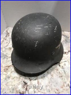 RARE Original Authentic WWII WW2 German Luftwaffe Helmet Marked Q68