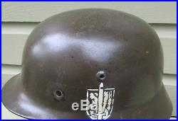 RARE WW2 GERMAN Wehrmannschaft der Steiermark BORDER PATROL M1935 HELMET