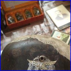 Rare Beautiful Paratroopers German WW2 Helmet M-38 w. Certificate of Originality