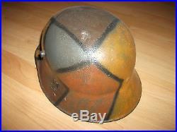 Rare German Helmet Camouflage RARE WW1 WW2