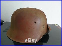 Rare German Luftwaffe M42 helmet Sicily camo 100% original ww2