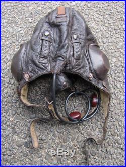 Rare Original WW2 Aviation German Luftwaffe Pilot Flight Helmet Gear LKp W101