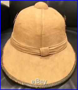 Rare Pith Helmet, Imperial German or WWII Africa Corps First Model With Badges