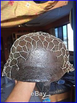 Rare Quality WW2 German Eastfield Troops M-35/40 Helmet with Certificate