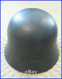 Rare WWII German Late War Approx. 1945 Flak Battery Beaded Helmet Superb
