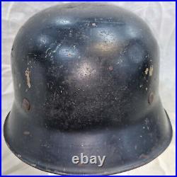 Rare Ww2 Czechoslovakian Resistance Used German M32 Steel Uniform Helmet