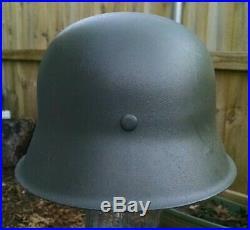 Refurbished WWII German M42 Helmet Size 66 « Wwii German Helmet