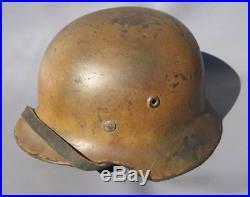 Superb Original Ww2 M40 German Normandy Camo Heer Helmet Wwii Relic