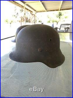 Untouched Original WW2 German helmet M42 CKL Hkp 64