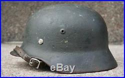 Untouched german helmet M35 overpaint alum liner WW2 army