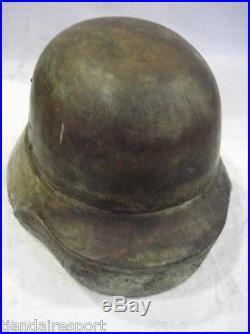 Very Rare German Helmet Mold M 40 Model Wwi Wwii Wooden Original, See Details
