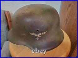 Vintage Original WWII German Army Helmet, Lined, LOCAL PICK UP ONLY