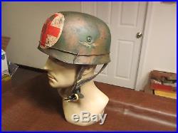 Vintage Wwii German Military Luftwaffe Paratrooper Combat Medic Type Helmet