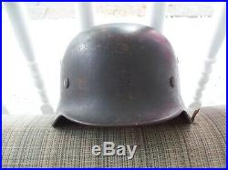 WORLD WAR 2 GERMAN SE64 SINGLE DECAL HELMET WithLINER SINGLE DECAL GUARANTEED AUTH