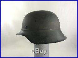 WW II Combat German Helmet Luftschutz M-42 With Chin Strap