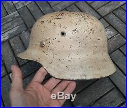 WW II German DAK Akrika Korps Stahlhelm Helmet M40 Wehrmacht Heer Army Military