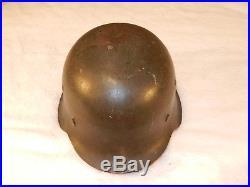 WW II German Helmet M42 with liner & chinstrap Markings CKL 66 & 5396 no decal