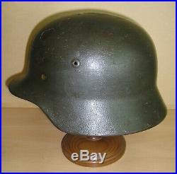 WW-II German (Wehrmacht) Re-issued M. 35/M. 40 Helmet Shell by Eissenhuttenwerke