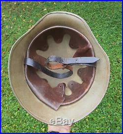 WW II Hungarian made German Stahlhelm Combat Helmet for Norway Army RARE Norge