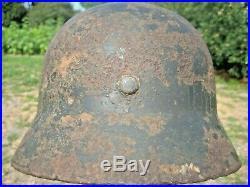 WW II WW 2 German Helmet M35 Battlefield Relic