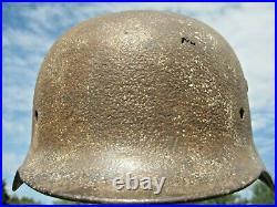 WW II WW 2 German Helmet M40 Battlefield Relic