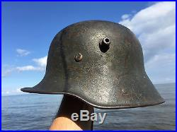 WW1 German WW2 Rare TRANSITIONAL WWII Helmet WWI Trench Part Liner & Chinstrap