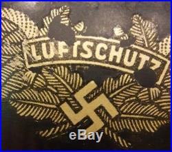 WW2 GERMAN Helmet LUFTSCHUTZ SINGLE DECAL ORIGINAL UNTOUCHED CONDITION