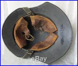 WW2 German Air Raid Luftschutz Gladiator Helmet + Liner & Chinstrap