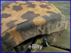 WW2 German Army Elite Uniform Helmet Cover Reversible Camo Camouflage WWII