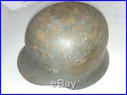 WW2 German Army Helmet M35 ET62, lot 3839, camo, steel