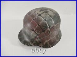 WW2 German Camouflage Rare Size 60 M40 Helmet
