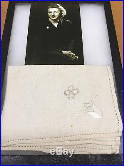 WW2 German Eva Braun Napkin Adolf Hitler Obersalzberg Berghof Helmet