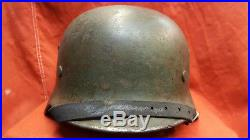 WW2 German Germany army Original Double decal Stahlhelm M35 Wehrmacht Helmet