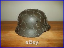 WW2 German Heer M35 Combat Helmet VET BRING-BACK 100% ORIGINAL NICE
