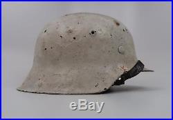 WW2 German Heer Wehrmacht winter camouflage snow camo army uniform combat helmet
