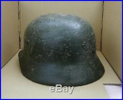 WW2 German Helmet M35/64 Repaint Field Camo Wehrmacht Original Dug relic