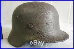 WW2 German Helmet M40/64 Stahlhelm with liner Original, dug relic