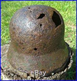 WW2 German Helmet M40 ET66 with signature. Stahlhelm Original Relic