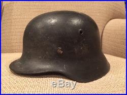 WW2 German Helmet M40 SD Army Vet Bring Back Dome Stamp