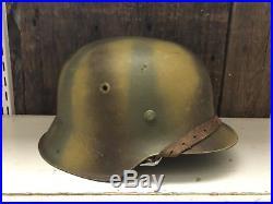 WW2 German Helmet M42 Huge Size Normandy Camo Original